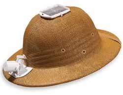 Sombrero ventilador con paneles solares