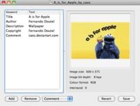 PNGCommentator, edita la información de archivos PNG