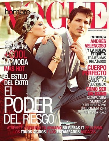 Andrés Velencoso en la portada de Vogue Hombre México