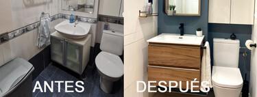 """Antes y Después; un cuarto de baño que aprovecha el cambio de la bañera por ducha para renovar y actualizar su """"look"""""""