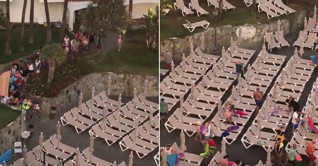 ¿Son nuestras vacaciones otro trabajo? El vídeo de esta muchedumbre reservando hamacas dice que sí