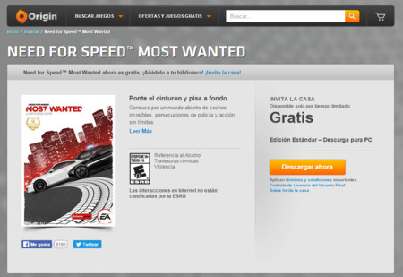 Need For Speed Most Wanted Origin
