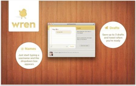 Wren, un cliente de Twitter pensado para disminuir las distracciones
