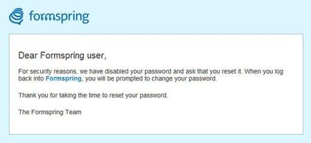 Formspring también reconoce problemas de seguridad y sugiere cambiar contraseñas a sus usuarios