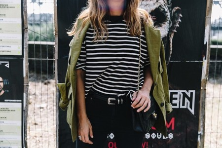 Hamburgo Parka Khaki Striped Sweater Black Jeans Outfit Collage On The Road Street Style 9 790x527