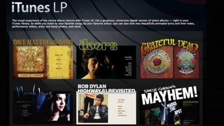 iTunes LP trae contenido adicional a los discos