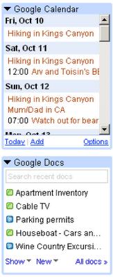 Gmail añade soporte para Gadgets
