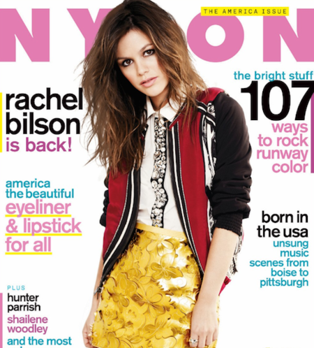 No es la primera portada de Rachel Bilson en Nylon, pero nos gusta tanto... o más