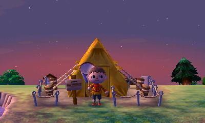Animal Crossing New Leaf tienda de campaña