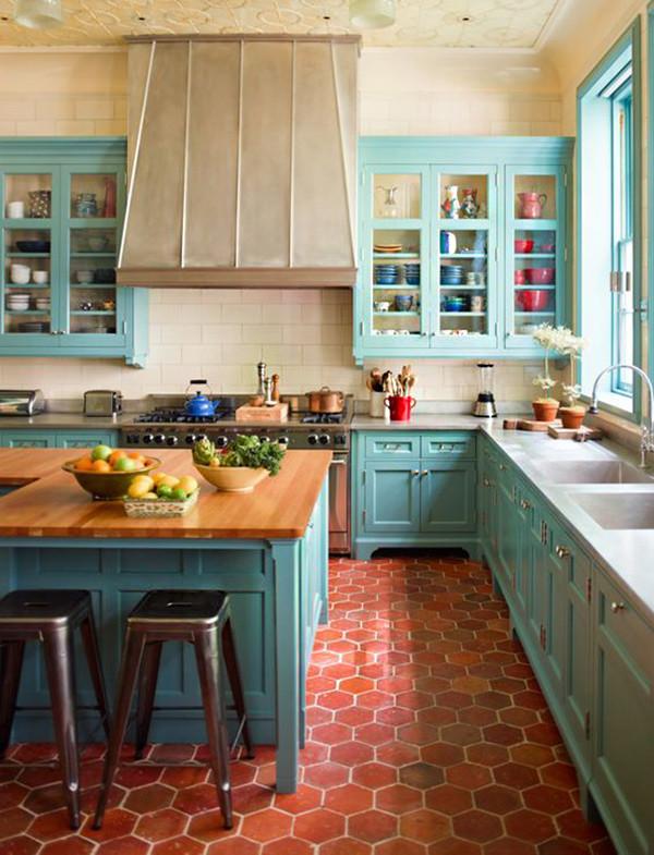 Muebles Azules Cocina 2
