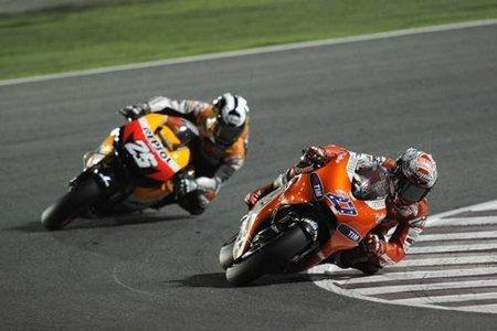 MotoGP España 2010: Con sólo cuatro vueltas, Casey Stoner se adjudica el tiempo más rápido en MotoGP
