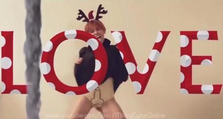 Miley Cyrus nos felicita la navidad con un pene