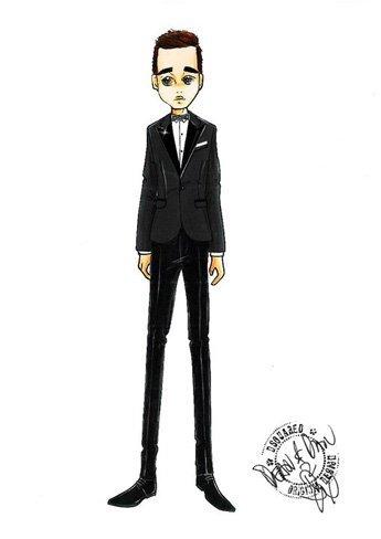Boceto de Dsquared2 para Michael Bublé