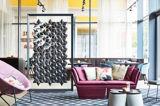 Freestanding Room Divider Facet Bloomming Restaurant Eindhoven 0282 Variatie 1 Graphite B