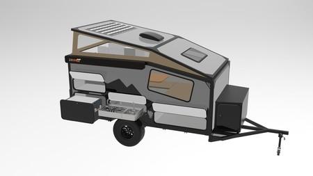Esta microcaravana cabe en cualquier sitio, pero no le falta cocina ni paneles solares