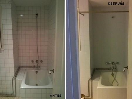 Antes y despu s dos maneras diferentes de renovar un for Como renovar un bano