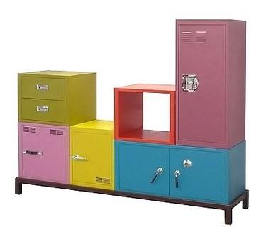 Coloridos módulos para la habitación infantil