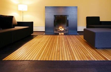 Alfombras de madera o suelos enrollables seg n como se mire - Alfombras para terrazas ...