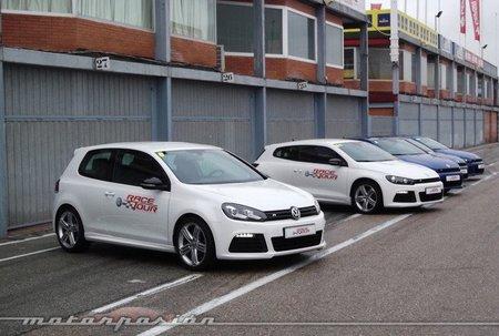 Volkswagen Scirocco R contra Volkswagen Golf R, prueba en el Circuito del Jarama