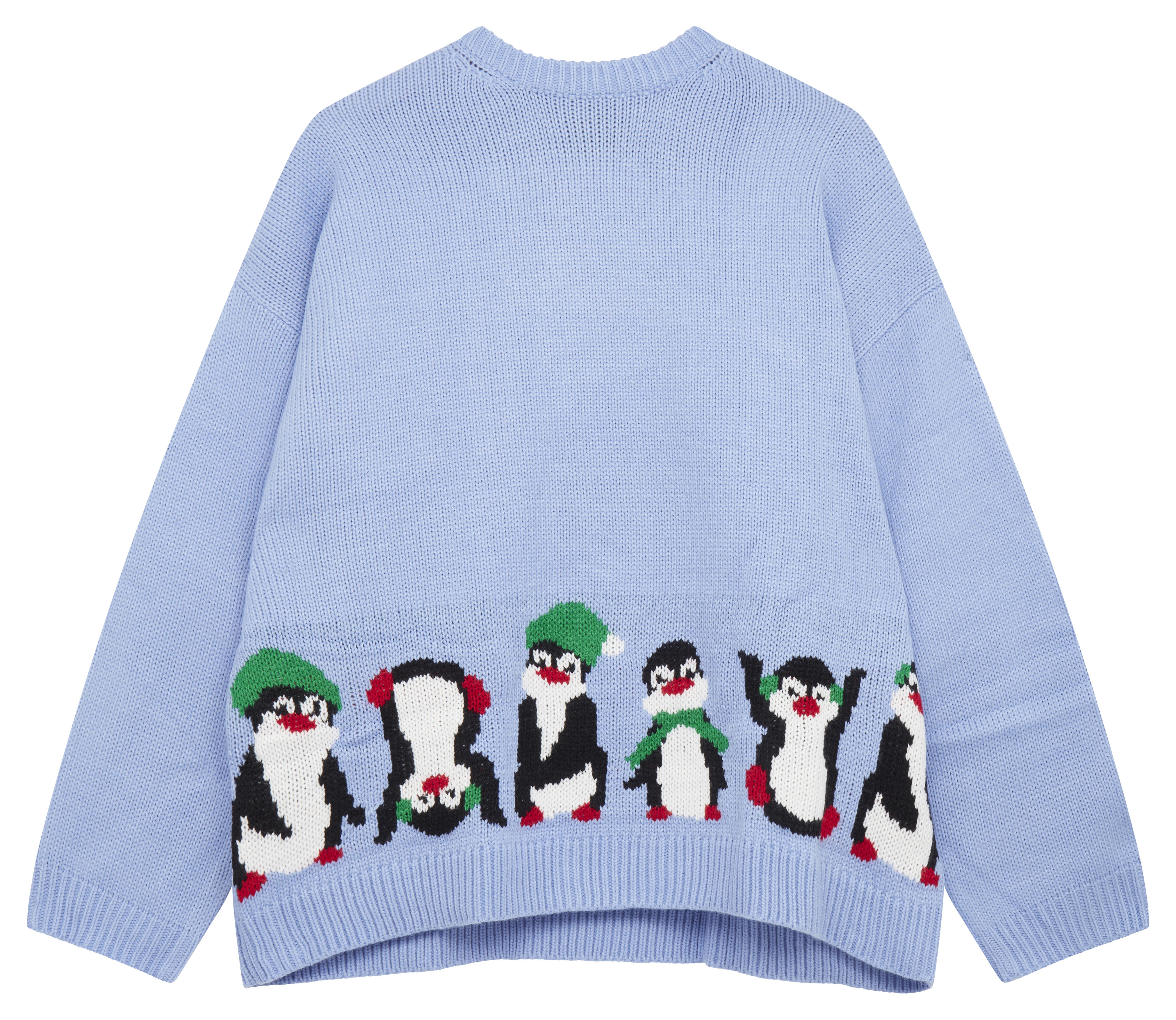 Jersey navideño extragrande con diseño de pingüino