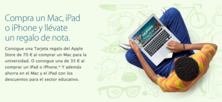 Apple lanza su campaña de vuelta al cole para este año con cheques regalo de hasta 70 euros