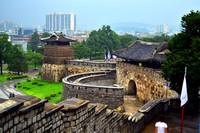 Una fortaleza Patrimonio de la Humanidad en Suwon, Corea del Sur
