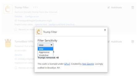 Configuracion De Extensiones Trump Filter