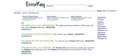 ErrorKey, conoce que significa cada error que nos aparece en diferentes sistemas