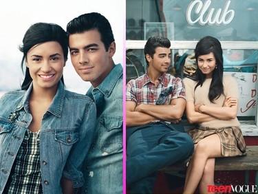 Demi Lovato y Joe Jonas, los ex-tortolitos, juntos en Teen Vogue entre pullitas