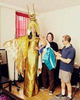 Heidi Klum se lo vuelve a currar de lo lindo para Halloween... este año de Cleopatra va la moza
