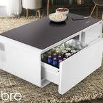 Sobro, una curiosa mesa de café con frigorífico, enchufes y altavoces Bluetooth incorporados