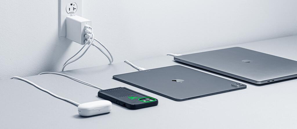 Razer lanza un adapatdor GaN múltiple para cargar un iPhone, iPad, Mac y AirPods al mismo tiempo