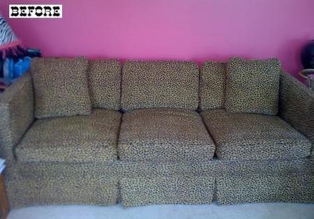 Antes y después: sofás con tapizado renovado