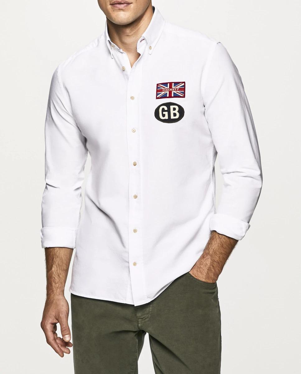 Pensada para el fin de semana, esta camisa informal estilo Oxford presenta icónicos parches Hackett en el pecho, todo un homenaje a nuestra tradición británica.