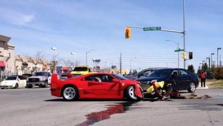 Ferrari F40 Accidente 2