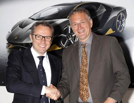 Stefano Domenicali, CEO de Lamborghini, y el Dr. Ferrari