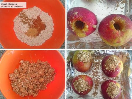 Preparacion manzanas al horno