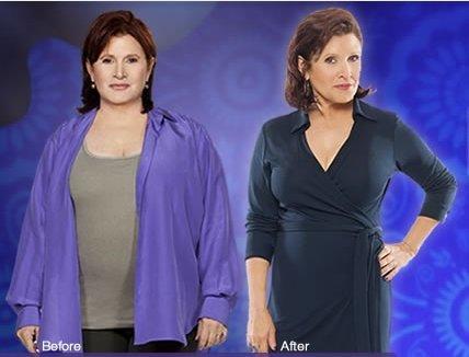 Carrie Fisher baja casi 23 kilos en 9 meses