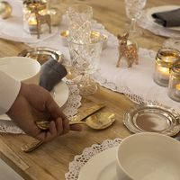 Nos gusta el dorado ¡Y más para una mesa de Navidad!
