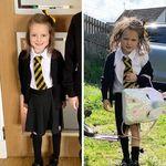 """La fotografía viral de una niña tras su primer día de colegio, que nos demuestra lo dura que puede ser la """"vuelta al cole"""""""