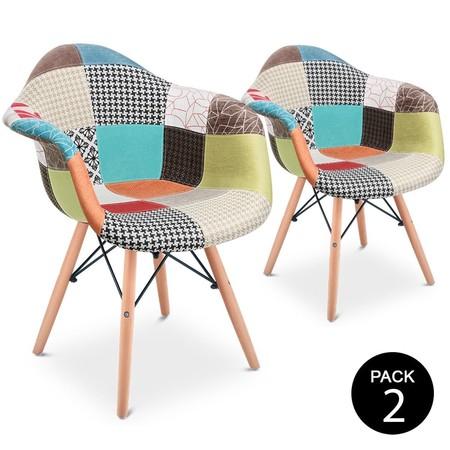 En Amazon tenemos este pack de dos sillones Patchwork por 114,80 euros y envío gratis