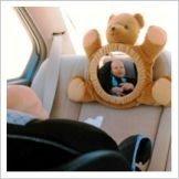 Espejo-osito para vigilar a tu bebé en el coche