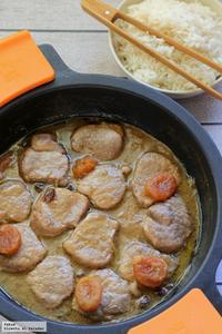 Solomillo de cerdo en salsa de tamarindo y pasas. Receta de San Valentín