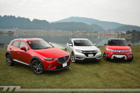Comparativa: Mazda CX-3 vs Suzuki Vitara vs Honda HR-V (I)