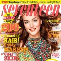 Leighton Meester en la portada de febrero de la revista Seventeen