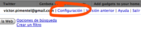Primero abre la configuración de Gmail