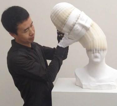 Primera exposición individual de Li Hongbo, el artista del papel, en Nueva York