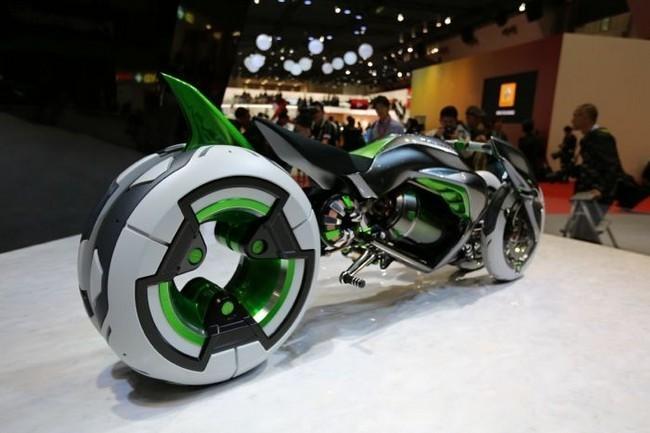 kawasaki j three wheeler ev una moto el ctrica de arquitectura variable. Black Bedroom Furniture Sets. Home Design Ideas