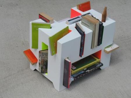 Book Porcupine, encajando libros