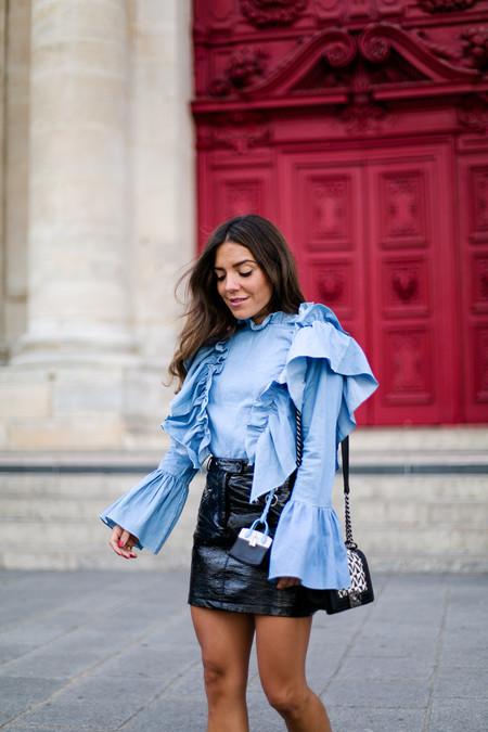 Mini Falda Cuero 1